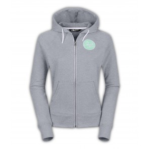 The North Face Womens Continuous Logo Patch Full Zip Hoodie